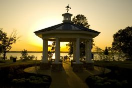 River Park Gazebo at Sunset